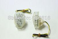 Clear Lens LED Flush Mount Turn Signals Light Indicator Blinkers For Kawasaki ZX 6 R 636 Ninja 2003 2004 2005 ZZR 600 ZX 7R ZX9R