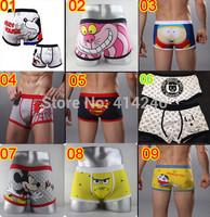 new hot Sexy Trouser Cotton Cartoon  Mens  men Underwear boxer shorts  Wholesale On Sale size L- XL