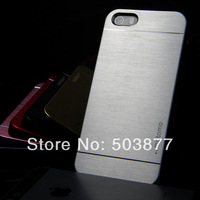 metal case for iphone 5 5S motomo metal aluminium fashion Brushed case cover 10pcs free shipping