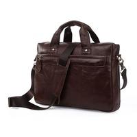 Vintage Genuine real leather  Men buiness handbag  laptop briefcase  shoulder Travel bag  / man  messenger  bag  JMD7075LC-253