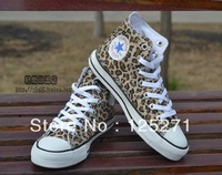 2013 spring and summer mens leopard print canvas shoes leopard print lovers design men's women's shoes casual single shoes