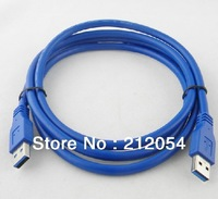 Free Shipping 1M Blue USB 3.0 Male to Male A/A Extension Cable SLIM CABLE