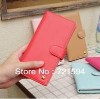 Free Shipping Fashion Women's Candy Color Long Leather Wallet Card Package Crown Wallet/Purse/Handbag