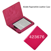 PU Leather Protective Cover Case  for Amazon Kindle Paperwhite Flip Stand Case Cover with Sleep/Wake Multiple Color Wholesale