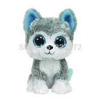 TY Beanie Boos Husky Plush Dog 15cm Ty Big Eyes Stuffed Animals Plush Toys for Children Kids Toys Gift Free Shipping