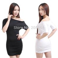 Women's New Fashion Club Dress 3 Colors One Shoulder Mini Clubwear Dress For Women Party Costume 9553