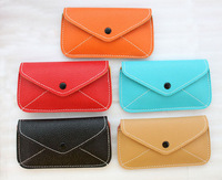 Free shipping,5pcs mixed candy color leather mobile phone bag cases cell phone pouches