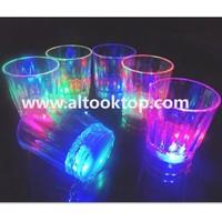 Free HK post shipping 24pcs/lot small LED shot glass flashing shot glasses luminous cup birthday party Halloween Chirstmas gift