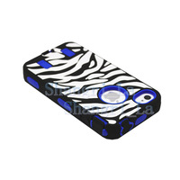 Zebras Stripes shockproof Case for Apple iphone 4S 4G DHL free shipping 500pcs/lot