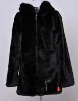 2013 women's spring luxury medium-long fur coat thermal cap with a hood overcoat  free shipping