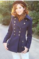 Free shipping  Winter outerwear 2014 women's trench woolen outerwear wool coat female woolen overcoat parka