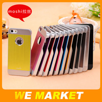 Double Color Moshi iGlaze 5 Aluminum & PC metal Drawing Hard Back Case For iphone 5 5G 5S 10pcs/lot Free shipping