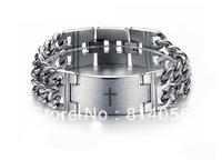 NSS-083 Titanium male bracelet silver male fashion 316l male jewelry coarse male bracelet