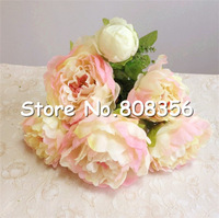 New Arrivals 45cm Legnth 7pcs Flower Heads Peony Bridal Bouquet Wedding Centerpiece Home Decoration Silk Artificial Flower