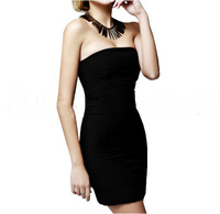 New 2013 high-elastic long tube top dress tube top dress basic slim skirt hip skirt one-piece dress party wedding dress