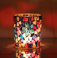 Glass Mosaic tea light  candle holder bar romantic candle light dinner christmas holiday home decoration