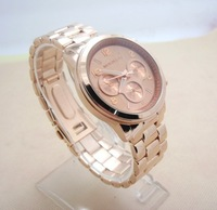 2013 Hot luxury brands rose gold watches women gold watches Men's TOP quality imported quartz movement + watch gift box