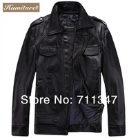 Freeshipping! New Fashion Men's Genuine Leather Jacket Cowskin Leather Men Clothes HGJ-1309