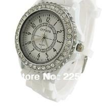 Free Shipping 5pcs wholesale 2013 hot Geneva Ladies Students Watches 100 Silicone Strap Jewelry Quartz Face