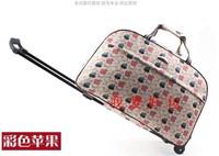 Metal trolley luggage bag portable travel trolley luggage bag male Women