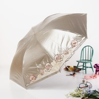 Super vinyl anti-uv umbrella sun umbrella sun umbrella three fold ultra-light umbrella