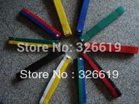 Free shipping standard Taekwondo road with divisa level belt taekwondo belt tkd belt