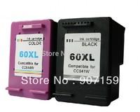 Compatible HP60 HP60XL ink cartridge for HP Deskjet D2500 D2530 D2560 F4200 F4230 ; 5sets/lot
