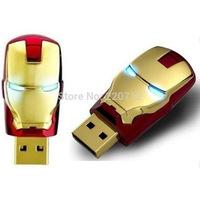 Iron Man LED USB Flash Drive 8GB 16GB 32GB 64GB Memory Stick  Free Shipping
