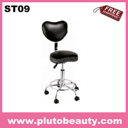 Free shipping Chromed base gas-lifting hair salon master stool(China (Mainland))