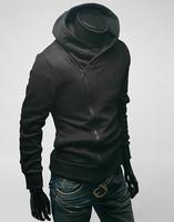 classic style casual fashion fleece sweatshirt man hoody,british style fleece clothing,diagonal zipper style free shipping