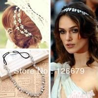 Fashion Elegent Rhinestones Leaf Hairband Head Chain Hair Accessary Jewelry Designs for Women(HLHC612-1)