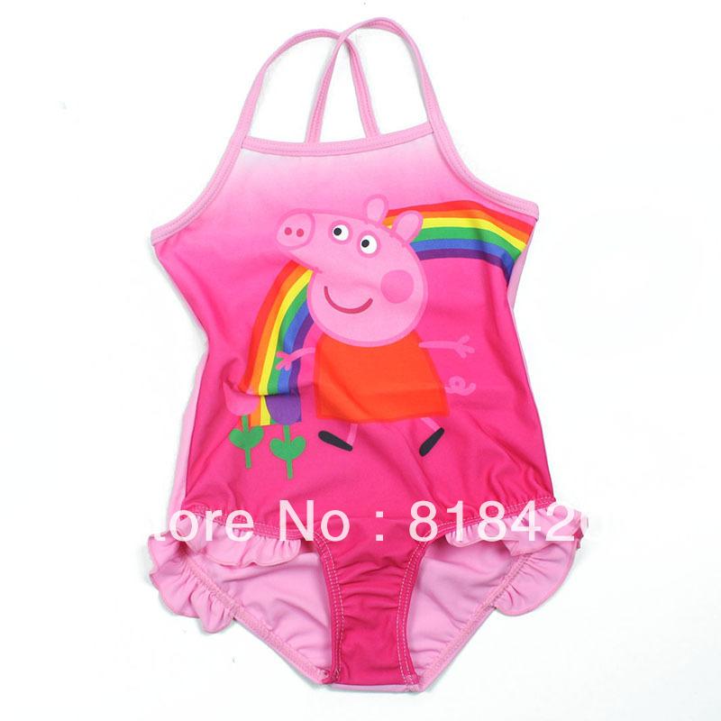 летняя фирменная peppa свинья девочек купальники