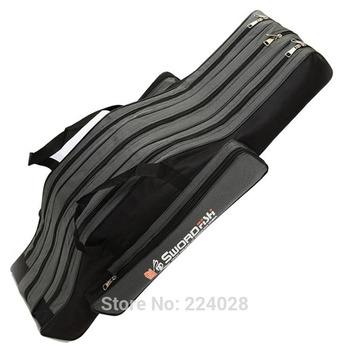 90cm large capacity waterproof fishing bag fishing pole package fish rod care bag wear-resisting 3 layer fishing tackle bag