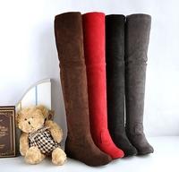 Elastic boots scrub velvet elevator over-the-knee women's boots tall boots flat heel boots