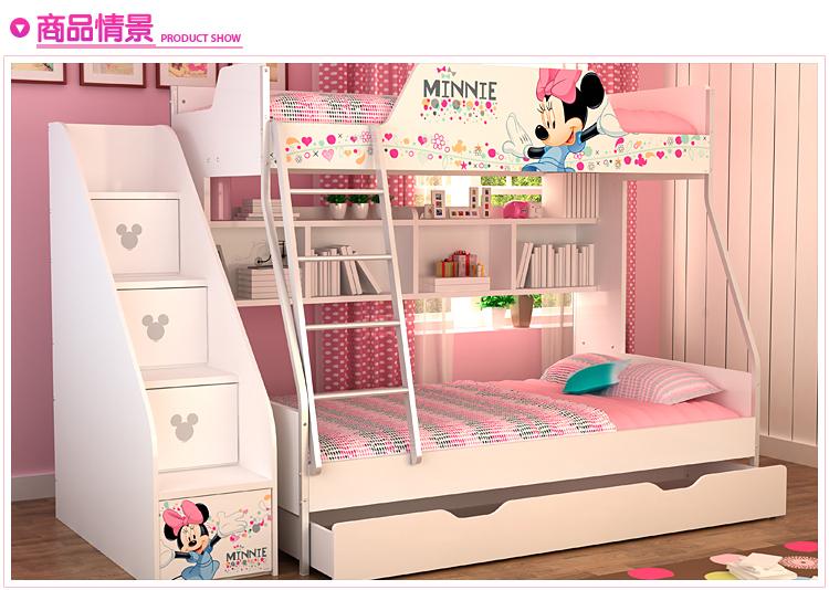 Mdf panelen kinderen bed stapelbed trappen en onderbed opberglade roze - Stapelbed met opslag trappen ...