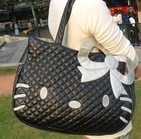 Fashion  Hot  sell  Hello  Kitty  HandBags   Women  Shoulder Bags   Totes   Bags  Pink  Black