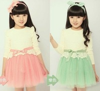 Retail 1 Pcs New 2014 Summer Fashion Girls Dress Children's Clothing Baby Girl Princess Lace Dress New High Free Shipping CC0201