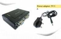 Free shipping+1pcs, new style  VGA  4 port  Splitter+5v/1a Power adpater, 4 port vga splitter ,vga splitter hight quality
