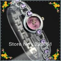 free shipping 5pcs/lot Fashion Stainless Steel Band Womens Lady White Gift Quartz Wrist Watch Watches hot gift