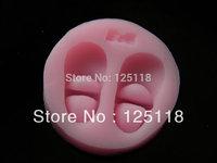 factory wholesale 3018  10sets silicone baby shoe  fondant mould  for fondant cake decoration