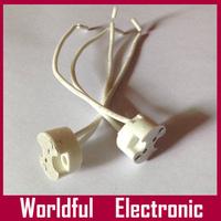 Wholesale 50pcs/lot Ceramic MR11/MR16/G4/GU5.3 LED Bulb base holder LED Lamp Adapter Converter Holder Free shipping
