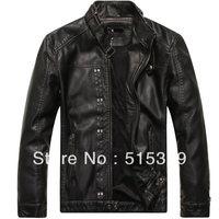 THOOO Brand pu leather motorcycle jacket coat Faux Leather ew HOT GENTLEMEN'S classic  Slim Wholesale 8821 free shipping