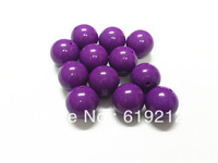 Wolesale Beads 100pcs/lot  20mm Dark Purple Acrylic Gumball Beads For Chunky Necklace Making