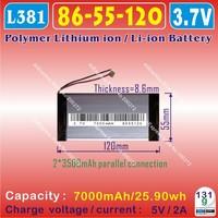 [L125] 7.4V,7600mAH,[7074110] PLIB (polymer lithium ion battery) Li-ion battery  for tablet pc ,mp3,mp4,cell phone,speaker