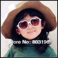 5Pcs/Lot Free Shipping Heart Shape Children Sunglasses Lovely Girl Sunglasses E10
