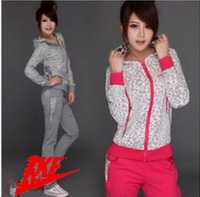 2013 new arrival SPRING AUTUMN sportswear women fashion coat brand tracksuit sports suit hoody leisure wear , free shipping