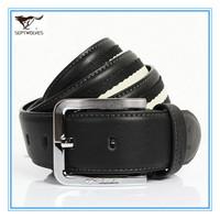 Certified Brand Straps of Genuine Leather Men Pin Buckle Belt Cowskin Split Leather Men Black Waist  Belts Alloy Buckle702043300