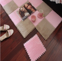 Japanese style soft patchwork carpet magic cube slip-resistant carpet fashion carpet climbing baby blanket