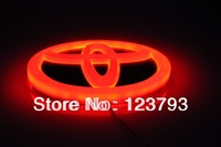 3 pcs a Lot Red Color High Quality LED Emblem Car badge For Toyoto RAV4 With Free shipping