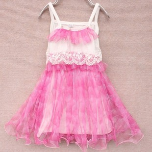 2013 Love lulu's store girl summer child dress children yarn hot bead suspender tulle dress Wholesale and retail(China (Mainland))